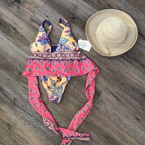NWT Becca one piece bathing suit medium